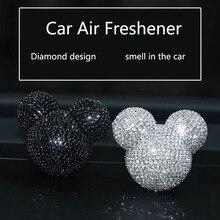 יוקרה רכב בושם לשקע מזגן יהלומים קליפ פנים קישוט רכב אוויר מטהר רכב סטיילינג בשמים 100 מקורי