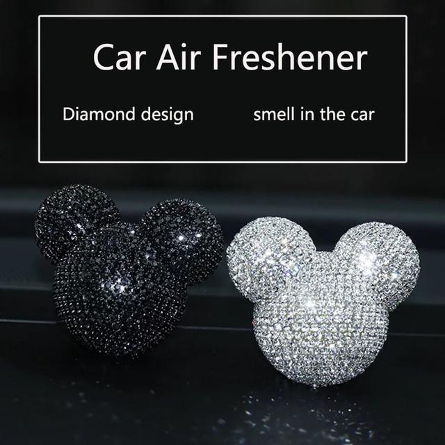 Luksusowy odświeżacz do samochodu diamentowy klimatyzator wylot klip dekoracja wnętrz odświeżacz powietrza do samochodu Car Styling perfumy 100 oryginalny