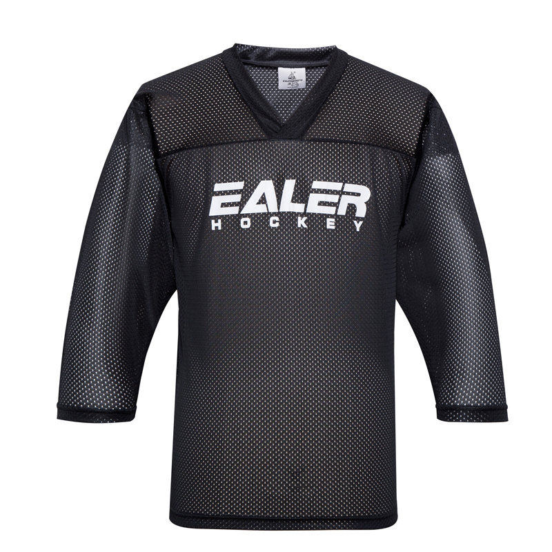 JETS free shipping cheap mesh ice practice hockey jerseys with EALER logo customized in stock black