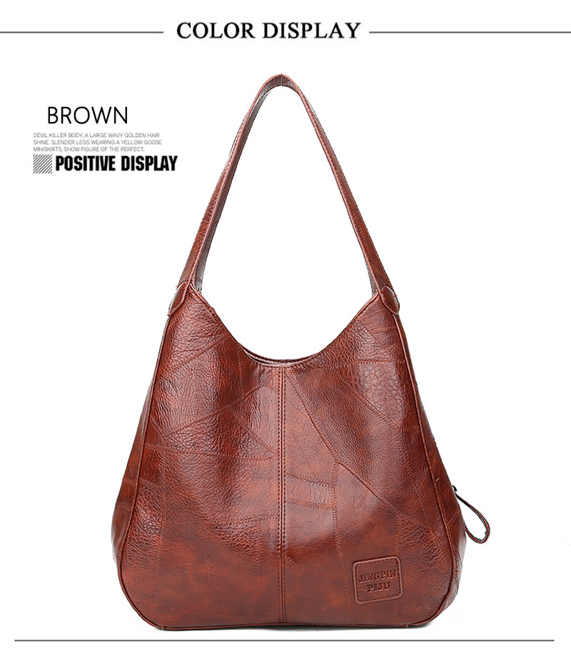 2019 Vintage Women Shoulder Bag Female Causal Totes Bags Large Capacity Luxury Designer High Quality Ladies Handbag Sac Femme 9