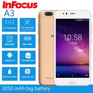 "Image 2 - Infocus A3 mobile phone 5.2"" LTE 4G smartphone 2GB +16GB 3050mAh Quad core phones fingerprint Dual came Android 7.0 cell phones"