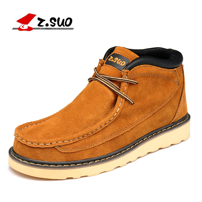 Z. Suo men 's shoes,plush leather shoes,both men and men leisure fashion shoes in fall and winter,zapatos de invierno zs020 leisure men s canvas shoes with elastic and cartoon pattern design