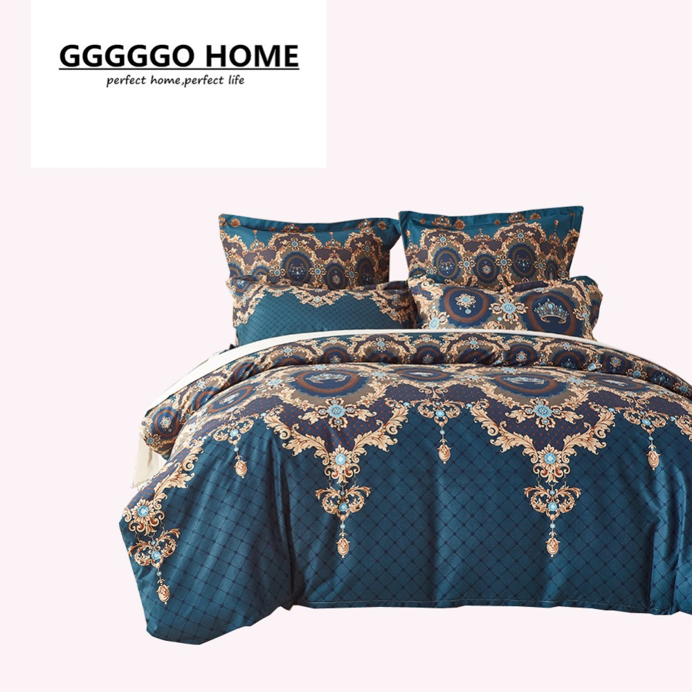 gggggo home 3 4pcs bedding set microfiber fabric retro
