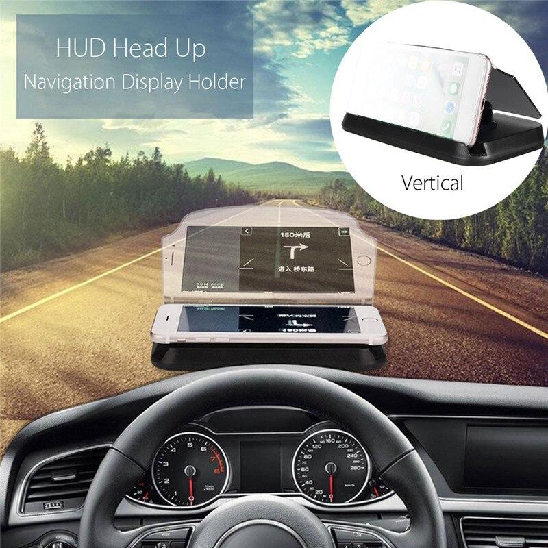 Aotuleader Vehicle HUD Head Up Display Navigation Projection GPS Phone Mount Bracket Holder GPS Projector
