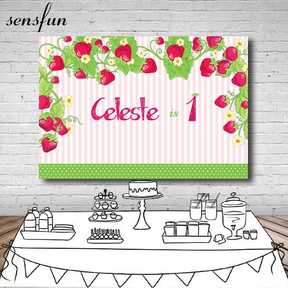 Sensfun Little Girls 1st Birthday Party Backdrop Custom