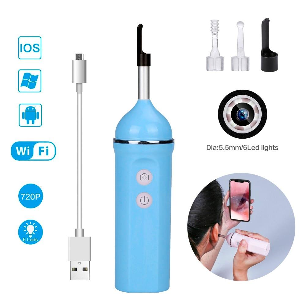 Brillant Hd Visuelle Ohr Löffel Wifi Endoskop Kamera Ios Android Wireless Usb Ohr Umfang Reiniger Set Led Wachs Entferner Werkzeug Pick Für Kinder