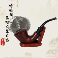 Creative curved hammer vintage wooden craft gift pipe Premium luxury boutique wooden nailed smoke pipe