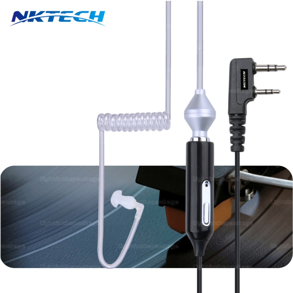 imágenes para 78 cm 2 pin bar ear auricular mic ptt auricular para baofeng uv 5r 777 bf-888s walkie talkie bf-uv82 wouxun hyt puxing radio
