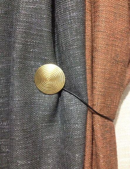 een paar magnetische gordijn gesp gordijn bal bandage gordijn clip gordijn accessoires magneet metallic cirkel in een paar magnetische gordijn gesp gordijn