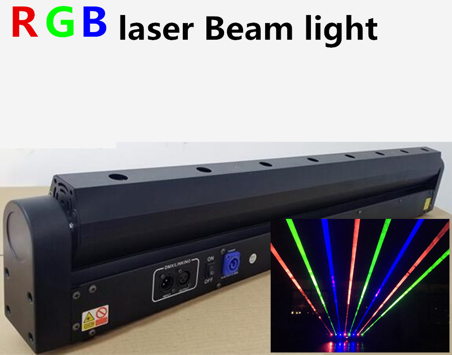 8 Eyes laser lights R,G,RGB beam dmx moving head laser lights professional stage equipment DJ lights Beams Laser Bar Light цена 2017