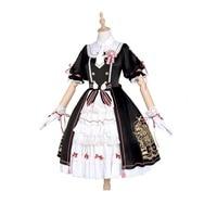 Free Shipping Card Captor sakura kinomoto cosplay Black Lolita Cute Dress Anime Card Captor Cosplay Costume Women Sakura Costume