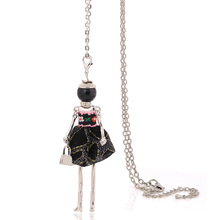 statement big necklace pendant long chains 2017 women's necklaces with doll pendant bohemian style jewelry for female cheap sale