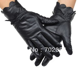 fashion Women Genuine Goat leather gloves skin gloves LEATHER GLOVES #3119