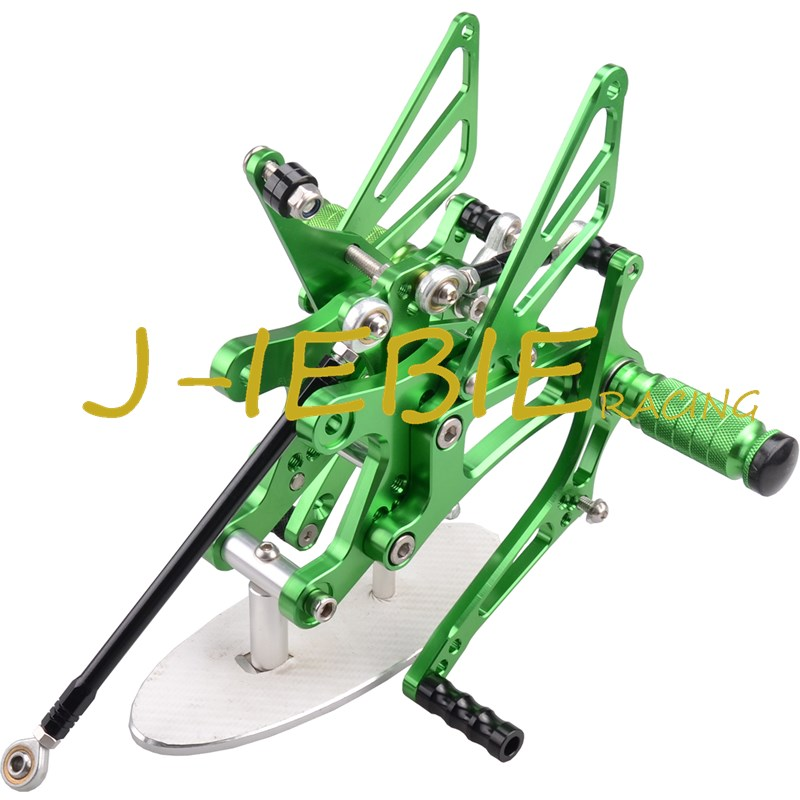CNC Racing Rearset Adjustable Rear Sets Foot pegs Fit For Yamaha YZF R1 2004 2005 2006 GREEN titanium cnc aluminum racing adjustable rearset foot pegs rear sets for yamaha mt 07 fz 07 mt07 fz07 2013 2014 2015 2016