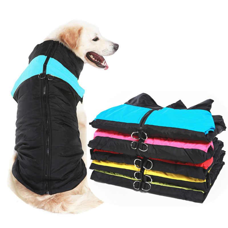 Зимняя одежда для собак, теплое пальто для собаки щенка, водонепроницаемая жилетка для маленьких и средних и больших собак, золотистый ретривер