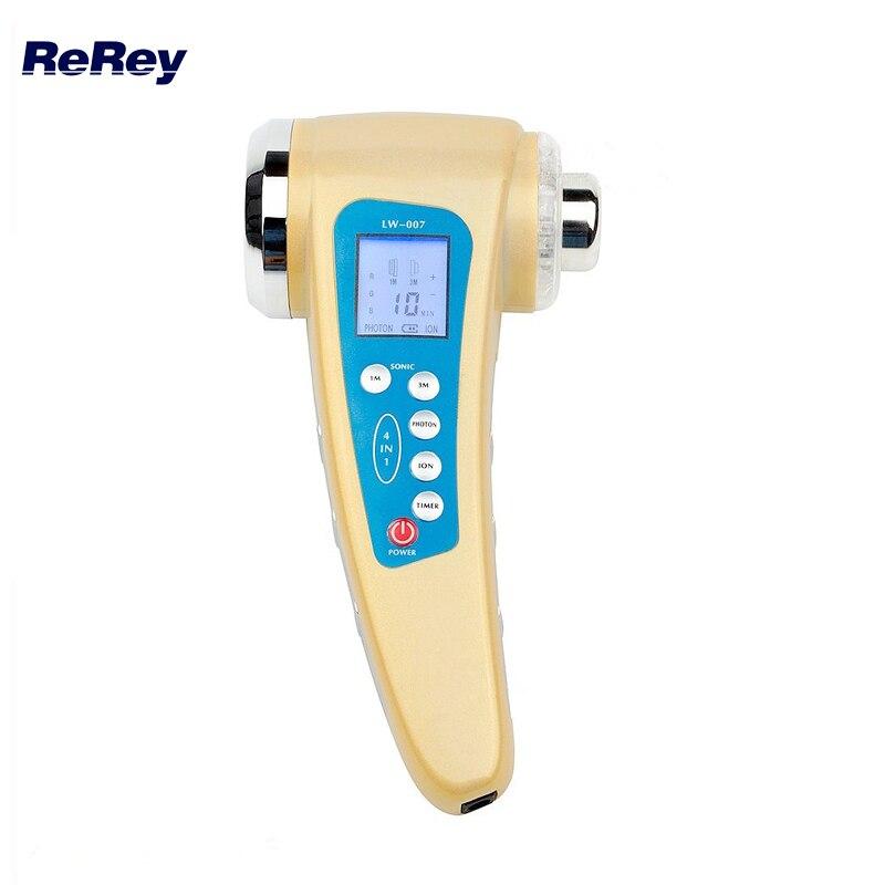 1 Mhz Ultraschall Körper Abnehmen Massager 3 Mhz Ultraschall Therapie Ion Galvanische Photon Gerät Gesicht Haut Verjüngung Reiniger Maschine Letzter Stil