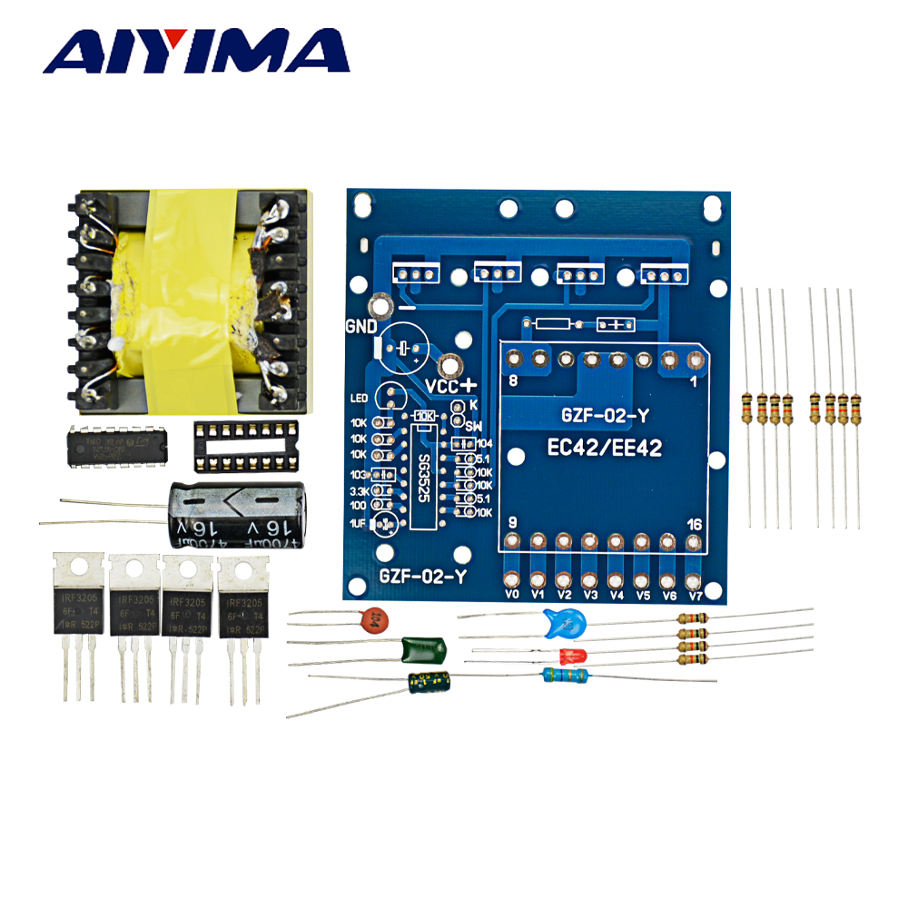 Aiyima Inverter DC12V to AC 220V 380v 18V 500W DIY Kit Frequency Converter виниловые обои domus parati tessuti veneziani 27712