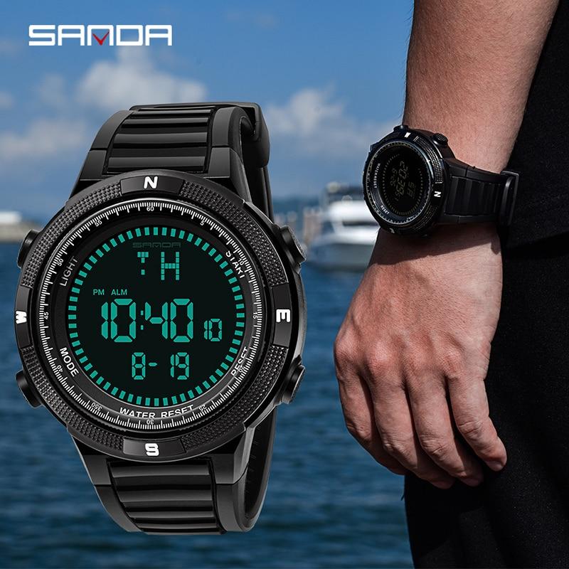 SANDA Watches Military-Watch Clock Dive Digital Swim-Sports Outdoor Men Fashion Brand