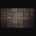 Decoraciones del Arte del clavo 30 unids/lote Diferentes 3D Etiquetas Engomadas Del Arte Del Clavo Que Estampa Las Placas de Plata de Oro de Dibujos Animados Herramientas de BRICOLAJE