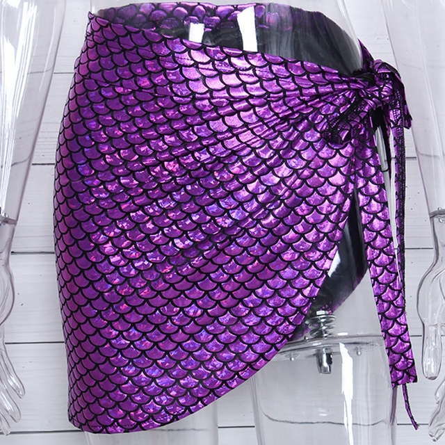 Women's Mermaid Scale Beach Wrap Skirt 4