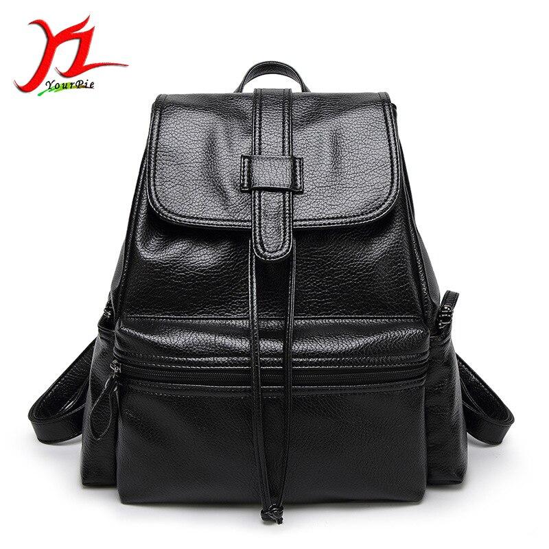 ФОТО New Women Fashion Soft PU Leather Litchi Grain Simple Sring Flip Type Mini Leisure Mochila Students School Bag Satchel Backpack