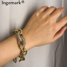 Ingemark круглые браслеты с кристаллами в стиле панк эффектные