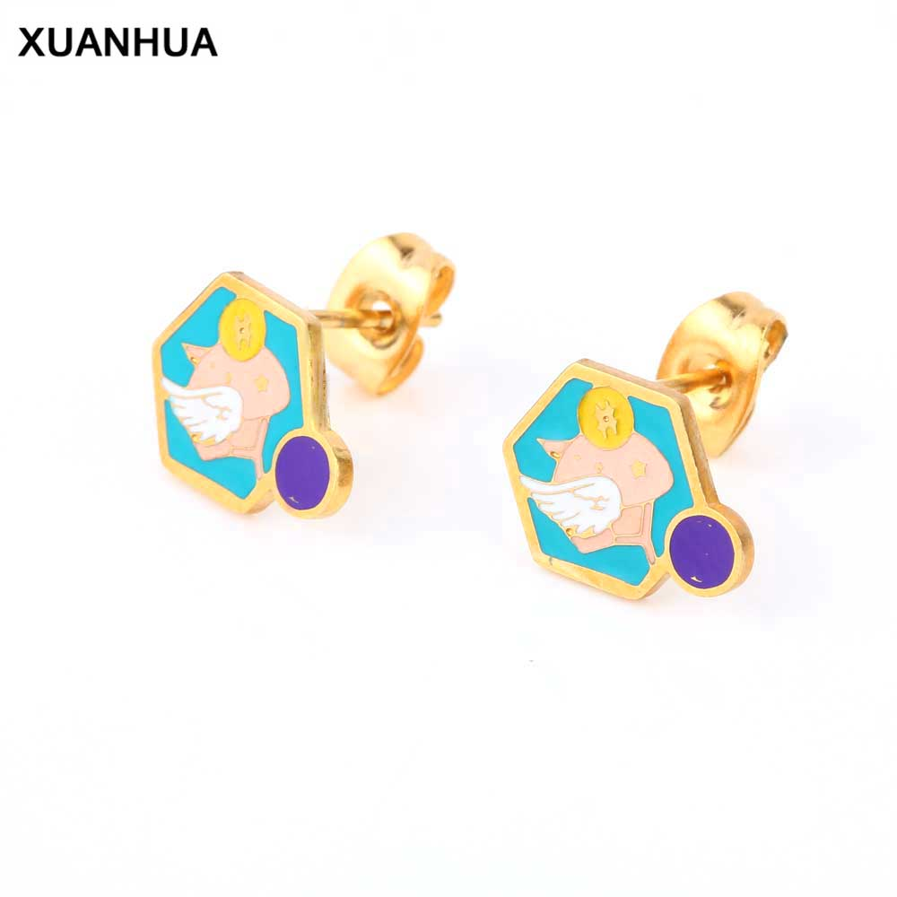 XUANHUA Wholesale Stainless Steel Earings Fashion Jewelry Stud Earrings For Women Jewelry Brincos Accessories Earrings 2019
