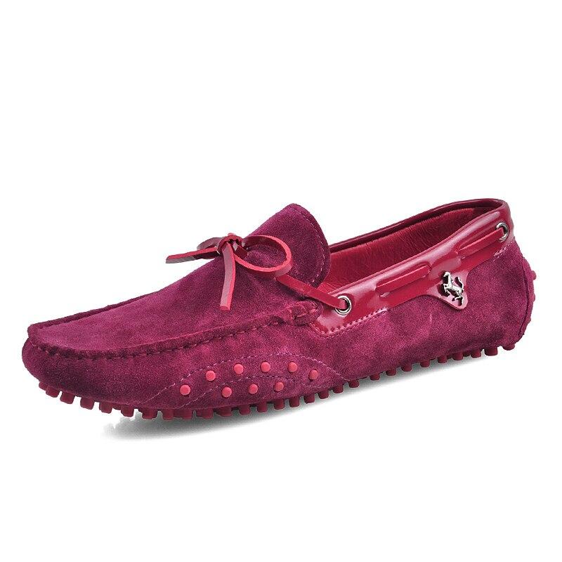 Nuevo US 6 11 gran tamaño 45 cuero de ante de vaca para hombre cordones mocasines Casual zapatos de coche de conducción mocasines zapatos de barco-in Zapatos náuticos from zapatos    3