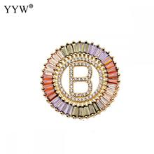 1Pcs  Pendant Necklaces For Women Jewelry New Trendy Gold Color Micro Pave Rainbow CZ Cubic Zirconia A-Z Initials Letter