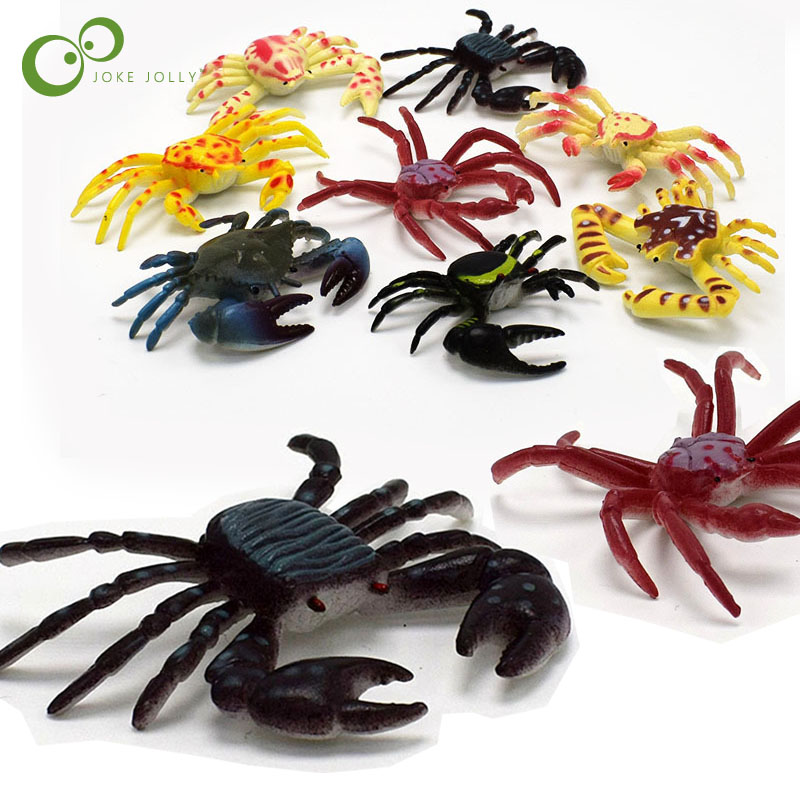 Toys & Hobbies Simulation Crab Animals Seafood Model Plastic Toy Sea Life Action Figures Collection Boys Gift The Underwater World Toys Buy One Give One