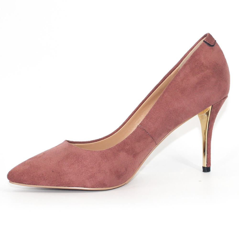 Basic Shoes Women Pointed Toe Super High Heel Pumps Party Thin Heel Shoe Elegant Violet Red Slip On Gold Heels 2018 Spring Autum pearl and crystal women thin high heel pumps pointed toe elegant wedding and birthday party shoes red bottom zapatos mujer