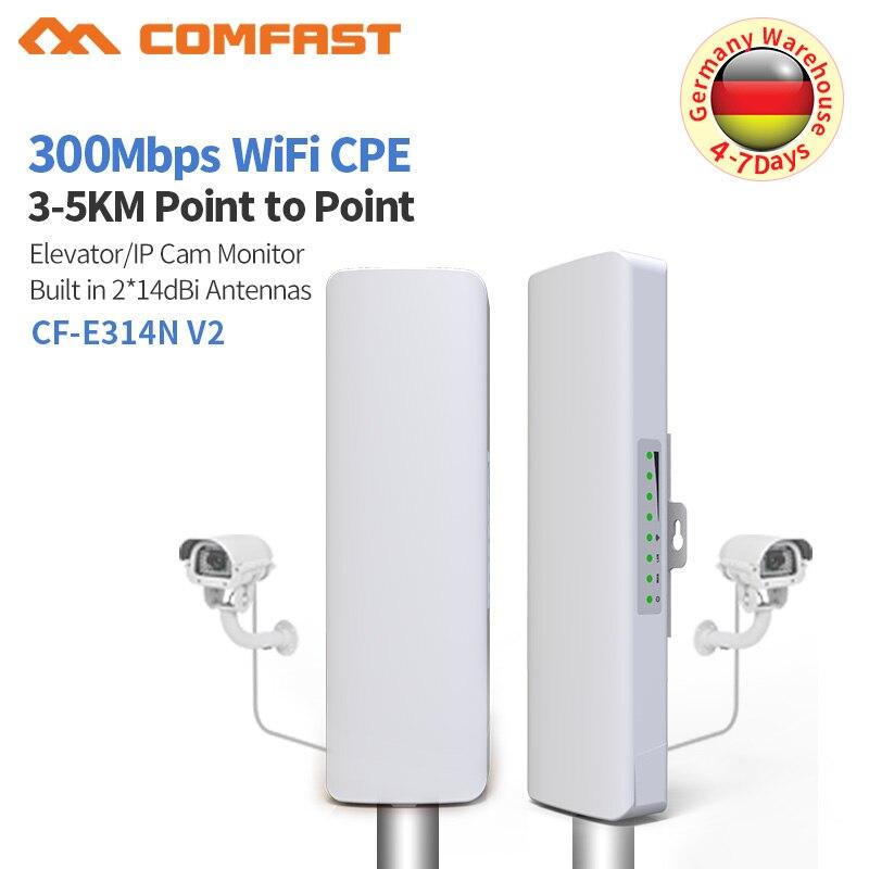 3 km Extérieure Wifi Routeur 300 Mbps 2.4 ghz Sans Fil Routeur Haute Vitesse Wi-fi Répéteur Antenne 2 * 14dbi Accès point Wi Fi Nanostation