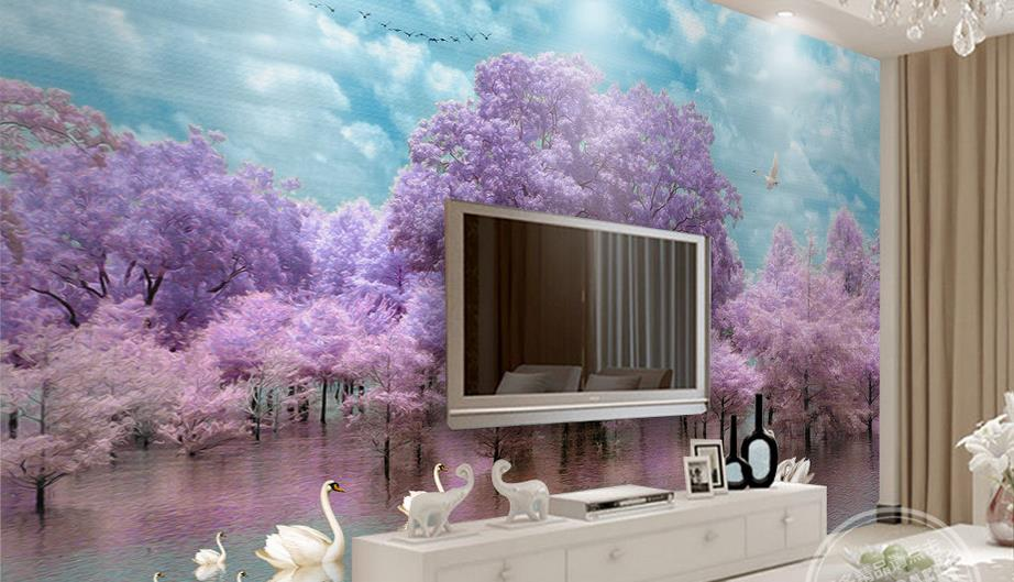 compare prices on beautiful tree wallpaper- online shopping/buy