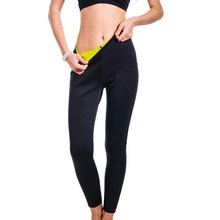 NINGMI Long Sauna Pants Neoprene Legging Control Panties Fitness Bodyshape Shaper Slim Super Stretch Capris Trouser Pant Women