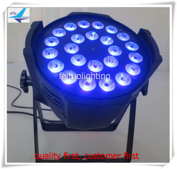 T-10/lot 24x18w rgbwa uv 6 in 1 led par64 disco stage lighting DJ par can for club LED light