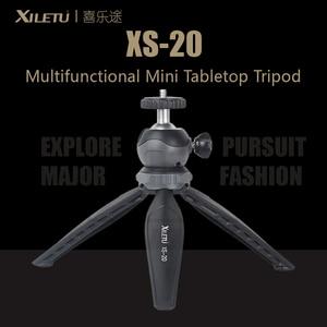 Image 1 - XILETU XS 20 Multifunctional MINI Tabletop ขาตั้งกล้องสำหรับโทรศัพท์มือถือและ DSLR ที่ถอดออกได้ ballhead สองปรับมุม 141g น้ำหนัก