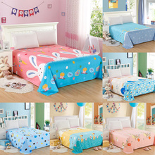 160 230cm Polyester Cotton Cartoon Sheet Mattress Cover Bedding Linens Bed Sheets Bed Sheet For Home