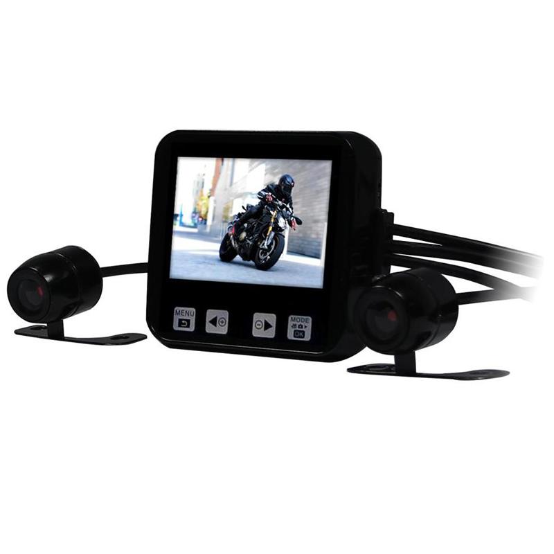 """Prix pour Nouvelle Arrivée C6 Mini Taille 2.0 """"Touche tactile Full HD 720 P Étanche Double Caméras GPS Pris En Charge De Voiture Dash Cam Moto DVR"""