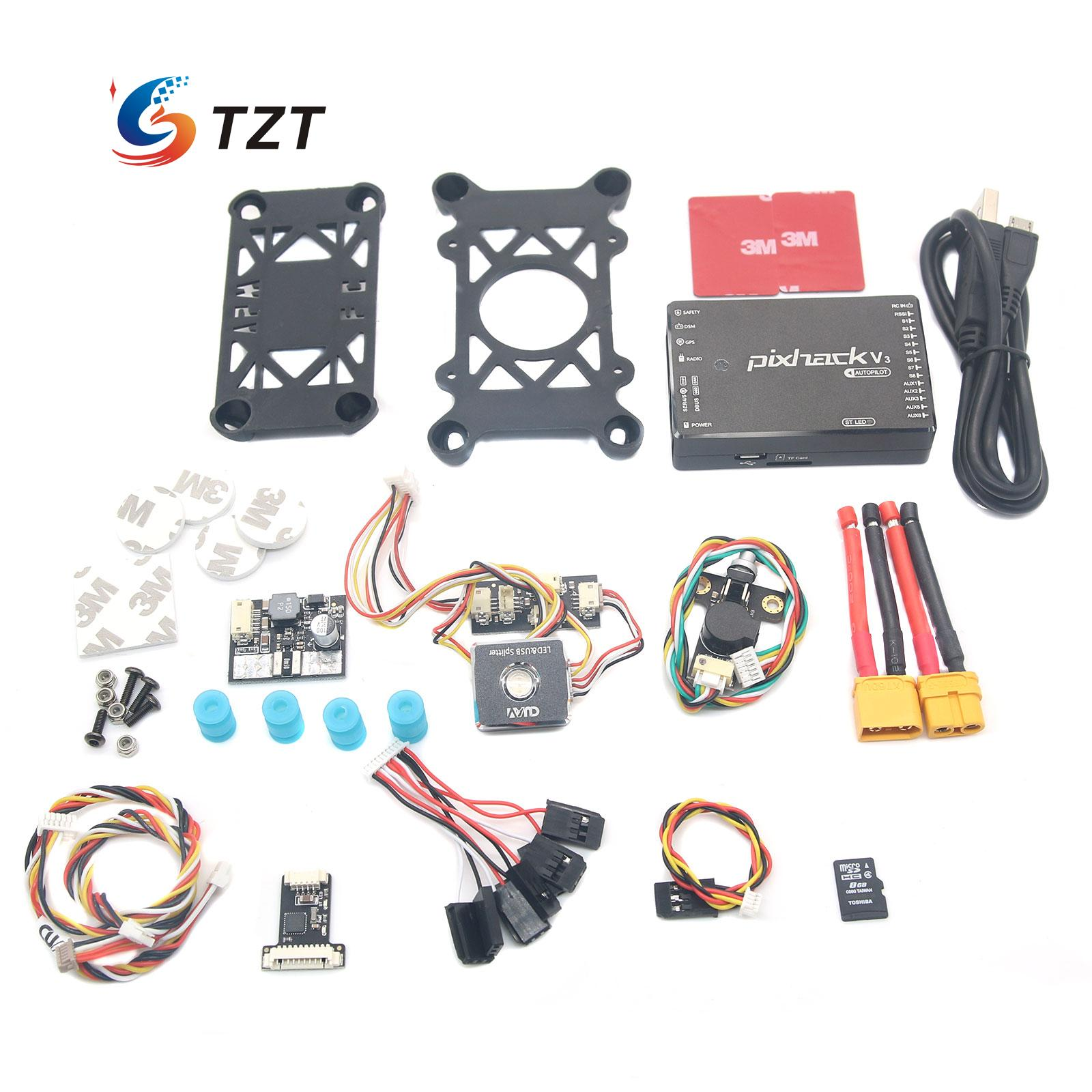CUAV Pixhack V3 Flight Controller PIX Open Source + M8N GPS for FPV Drone Quadcopter Helicopter original naza gps for naza m v2 flight controller with antenna stand holder free shipping