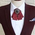 Nuevo Envío de la manera masculina de Los Hombres de la boda del hombre casado lazo de los hombres vestido de boda del novio Coreano femenino Británico negro pajarita en venta