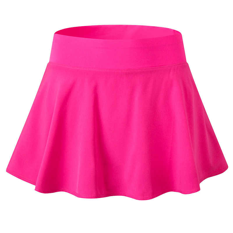 Kobiety elastyczna tenis Skorts stałe szybkie suszenie sportowe spódnice Lady profesjonalna siłownia nosić odzież sportowa tenis Badminton spodenki