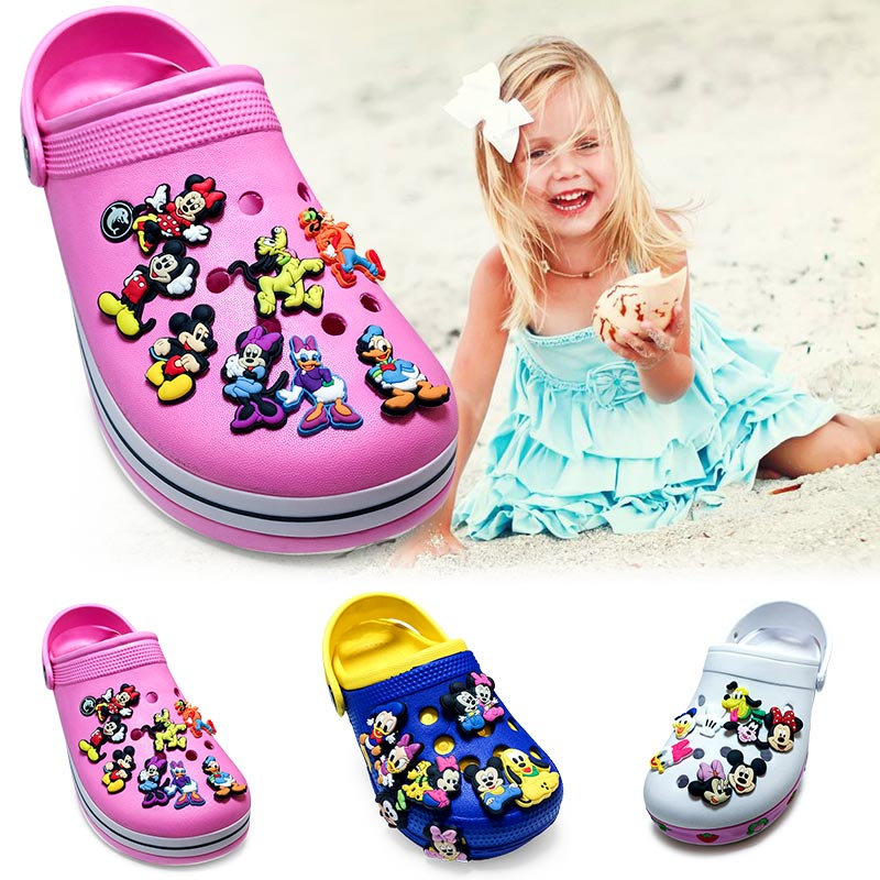 40-60PCS mixed styles Mickey Minnie PVC shoe charms shoe accessories shoe decoration for croc jibz kids gift fit for wristbands 9pcs lot the secret life of pets pvc shoe charms shoe accessories shoe decoration for shoes wristbands kids xmas gift