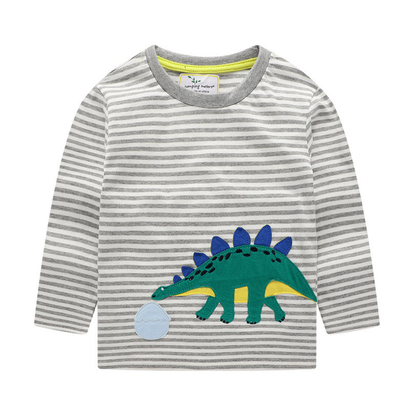 New Arrival Baby Autumn SweaterLong Sleeve Cotton Animal Clothes Children Cartoon Applique Outdoor Swearshirt For 2 7Y Baby in Sweaters from Mother Kids