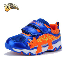 Dinoskulls Children'S Casual Shoes New Boy Shoes Toddler Anti-Slip Sports Shoes Kids Running Breathable 3D Dinosaurs Sneakers