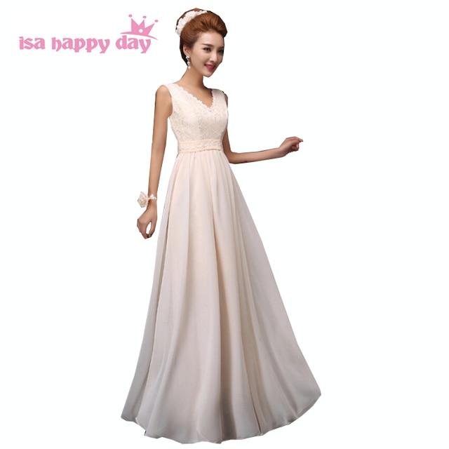 4f1fe6e64e5 V образным вырезом шифон Элегантный длинное свадебное платье для женщин  подружек невесты платья для из Китая