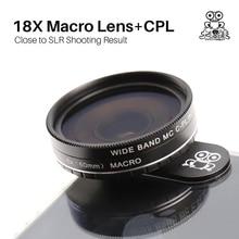 Kapkur Professional Macro Lens with Circular Polarizing Filter, 0.6X Super Wide-