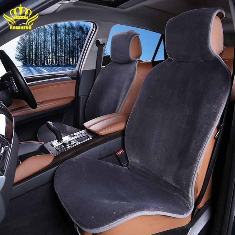 2 Pcs Front Cape Universal Avtochehol Artificial Fur Seat Cover Color Gray CAR Renault Logan Auto