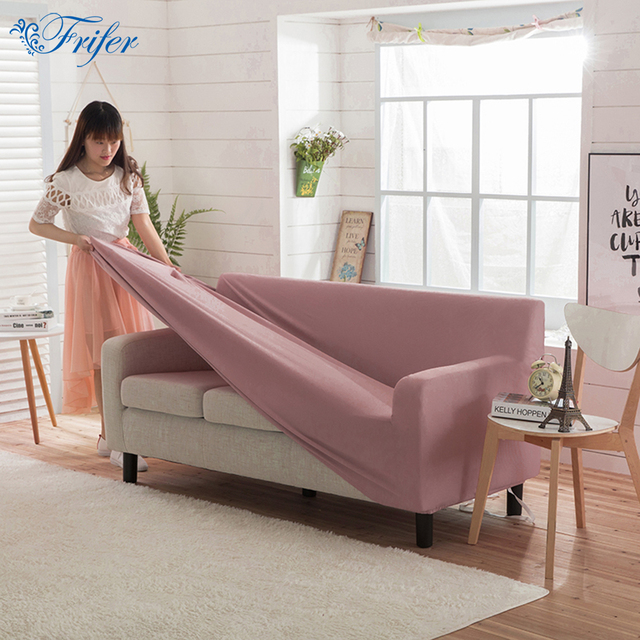 Universal Solid Polar Fleece Stretch Sofa Covers Super Soft Elastic Furniture Protector Loveseat Couch Cover Case For