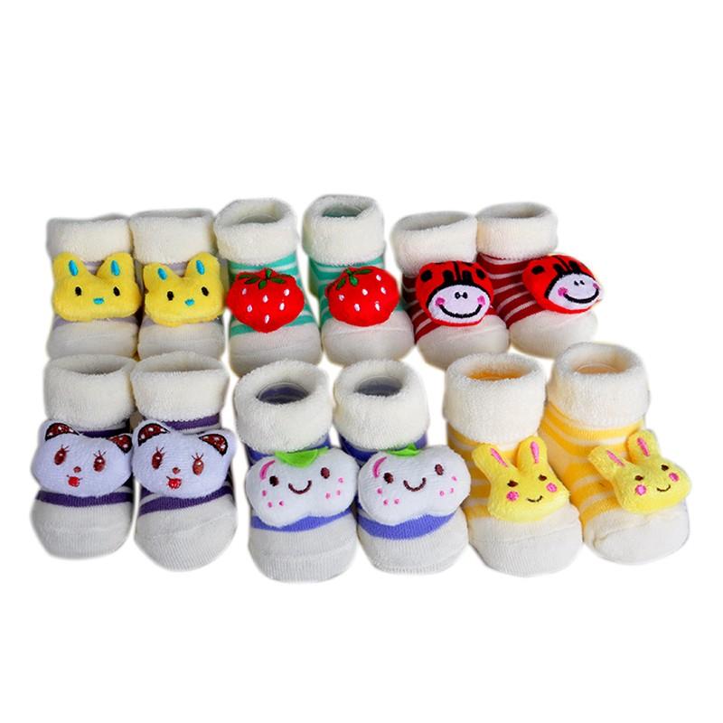 One Pairs Baby Socks New Born Meias Terry Cotton Animal Chicken Socks Infant Winter Socks & Leg Warmers (1)