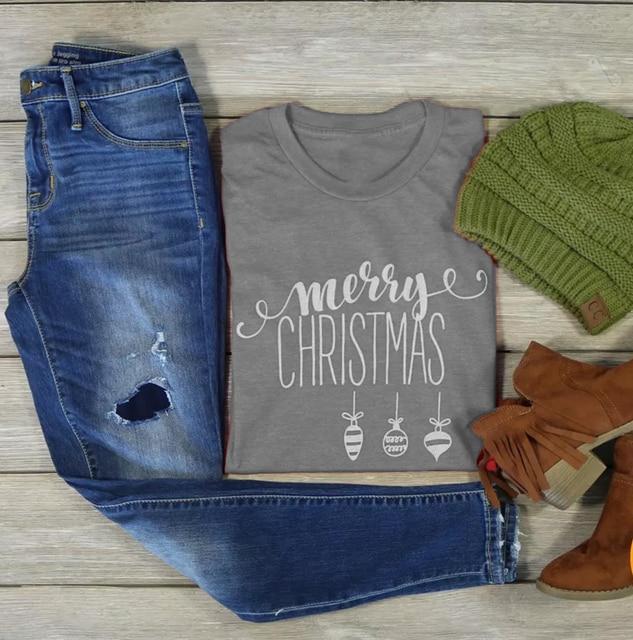 MERRY CHRISTMAS T-shirt funny graphic simple style women slogan cotton  casual grunge tumblr shirt 1cb1e23c1522